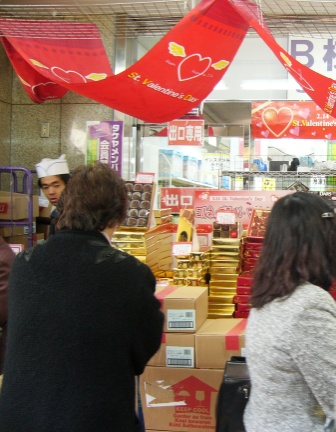 Comprando chocolates