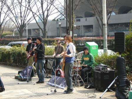 Músicos en Yoyogi